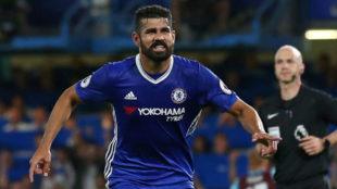 Diego Costa en un partido con el Chelsea
