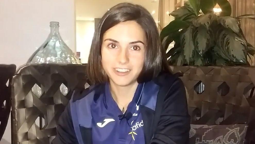Lourdes Oyarbide, en el hotel de la selección española en Noruega.