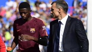 Dembélé se retira lesionado