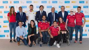 Blanco, Carballeda, Lete, Ereño y los deportistas presentes en el...