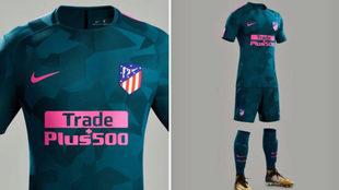 Tercera equipación del Atlético esta temporada.