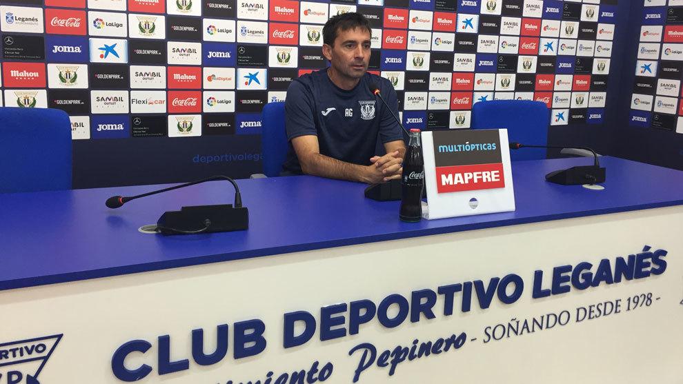 Garitano, en conferencia de prensa