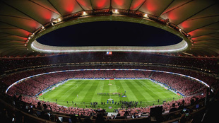 El Wanda Metropolitano la noche de su inauguración.