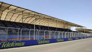 Tribuna principal del Circuito de Valencia para el GP de Europa de...