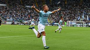 Ciro Immobile (27), celebrando un gol