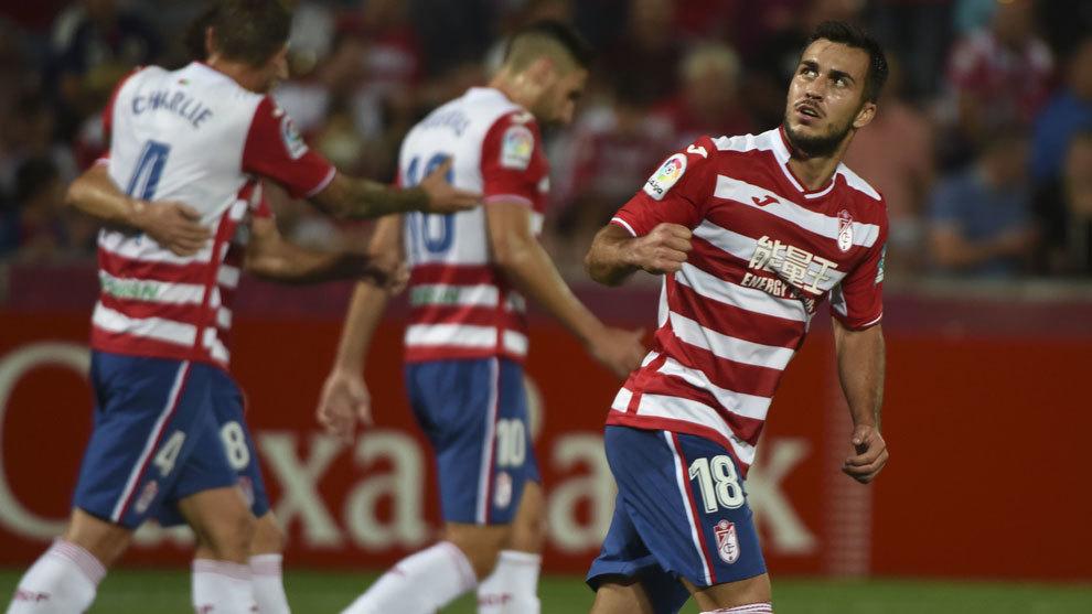 Joselu, jugador del Granada, segundo equipo de Segunda con mayor tope...