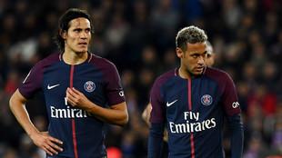 Cavani (30) y Neymar (25)