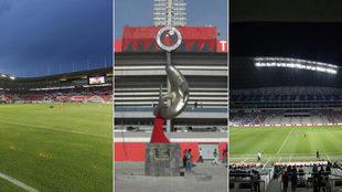Varios estadios se convirtieron en centros de acopio.