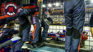 Los mec�nicos de Sainz, entusiasmados con el cuarto puesto en...