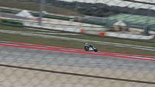 Rossi, durante la jornada de test en el circuito de Misano.