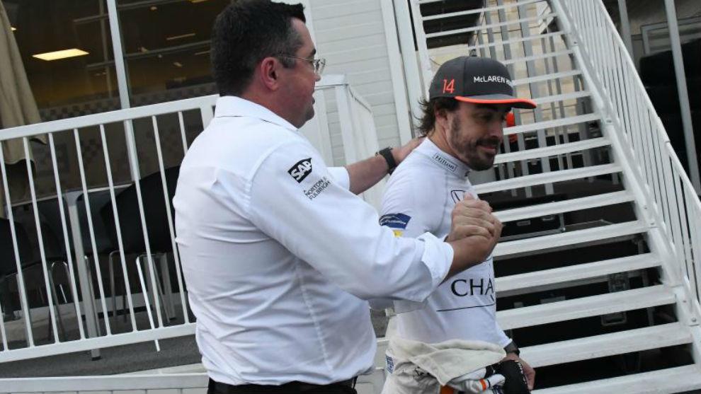 Alonso y Boullier, en Bakú