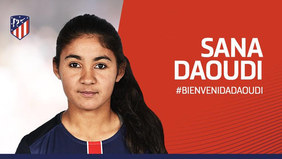 Sana Daoudi, nuevo refuerzo del Atlético Femenino.
