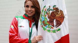 Paola Longoria durante el abanderamiento de los Juegos Panamericanos...