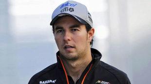 Checo Pérez, en un Gran Premio
