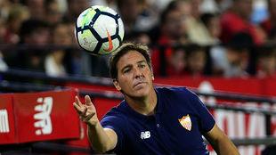 Berizzo (47), entrenador del Sevilla, en el Sánchez-Pizjuán.