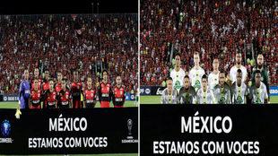 Ambos equipos mostraron su apoyo.