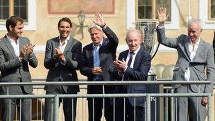 Federer, Nadal, Borg, Laver y McEnroe, en la presentación del torneo.
