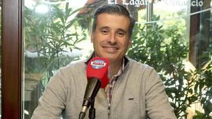 Miguel Ángel Gómez, durante la entrevista con Radio Marca Valladolid