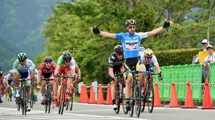 Jon Aberasturi gan� este a�o esta etapa de la Vuelta a Jap�n.