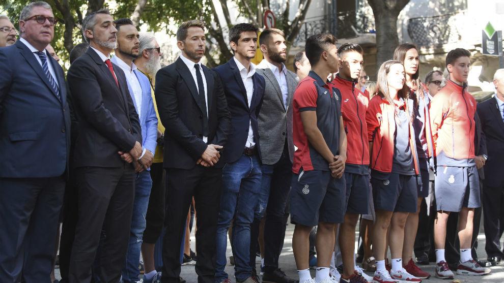 Representantes del Espanyol en la pasada Diada