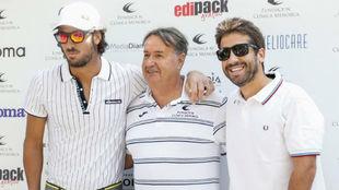 Feliciano y Marc López posan en el photocall del torneo de golf
