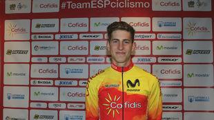 Iván García Cortina, con la selección española en Bergen...