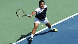Nico Almagro en un partido del US Open.