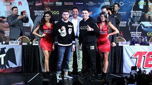 Canelo Álvarez y Golovkin previo a su pelea