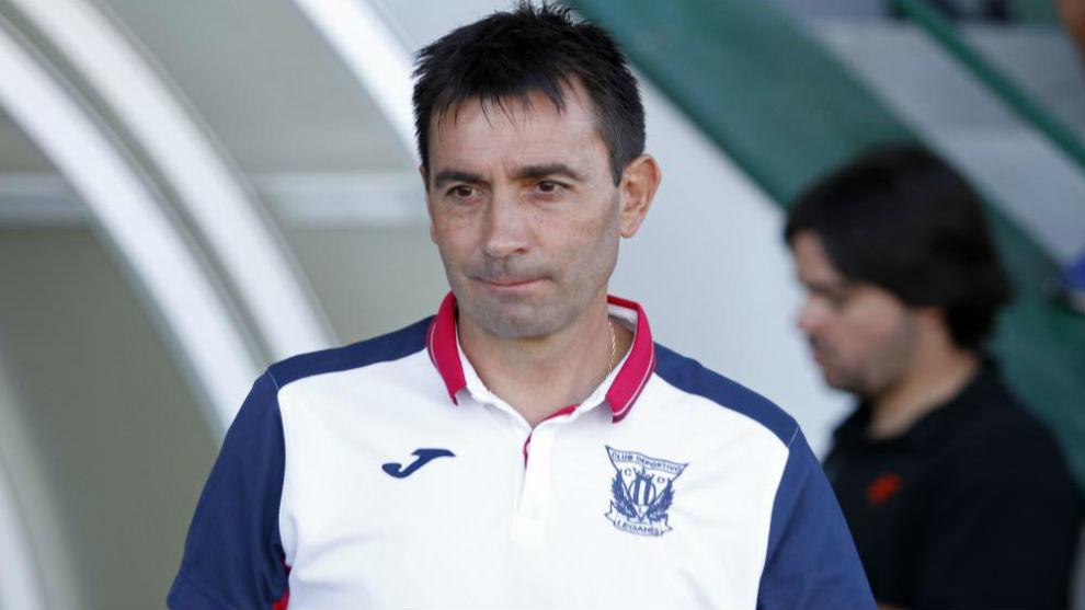 Asier Garitano, durante un partido con el Leganés.