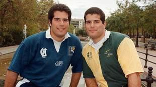 Los hermanos Ortega, uno del Ciencias y otro del Uni, en una foto de...