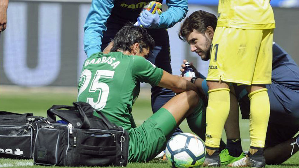 Barbosa, en el partido contra el Alavés