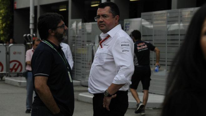 Eric Boullier y Luis García Abad.