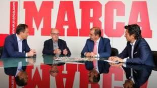 Jaume Roures junto a Emilio Contreras, Juan Ignacio Gallardo y José...