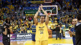 Pablo Aguilar con la camiseta de Gran Canaria