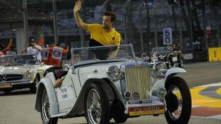 Jolyon Palmer, en el GP de Singapur