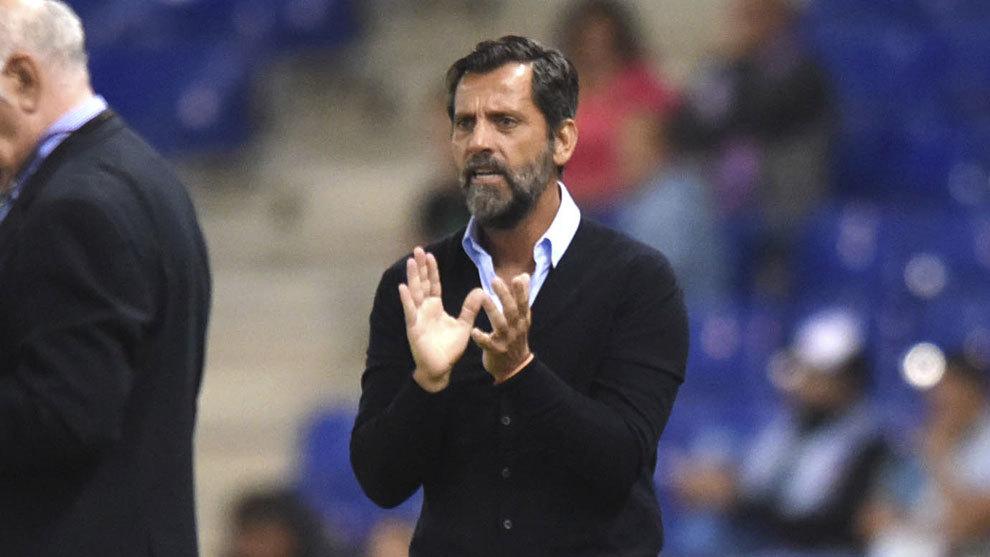 Quique Sánchez Flores, entrenador del RCD Espanyol.