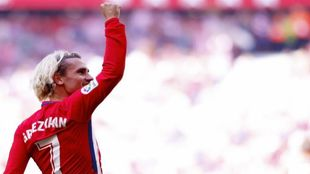 Griezmann celebrando la victoria en el Wanda