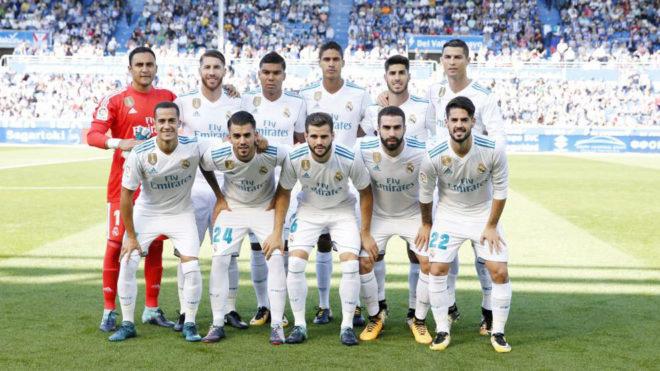 El once del Real Madrid ante el Alavés.