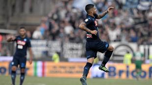 Insigne (26), celebra el gol del 1-1
