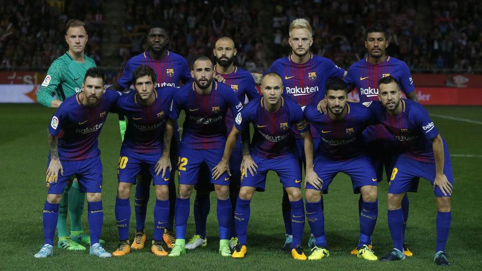 Los once del Barça en Montilivi