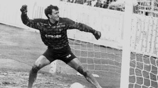 Javier Maté, en su etapa como portero del Celta de Vigo