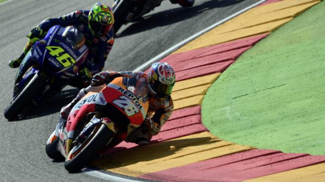 Pedrosa, por delante de Rossi en MotorLand.