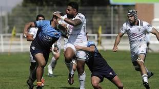 Una imagen del partido  disputado entre SilverStorm El Salvador y...