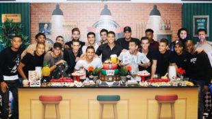 Foto de los jugadores del PSG en el cumplea�os de Thiago Silva