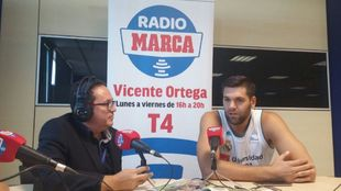 Felipe Reyes durante la presentación de la Liga ACB