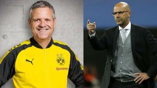 Albert Capellas y Peter Bosz, técnico del Dortmund