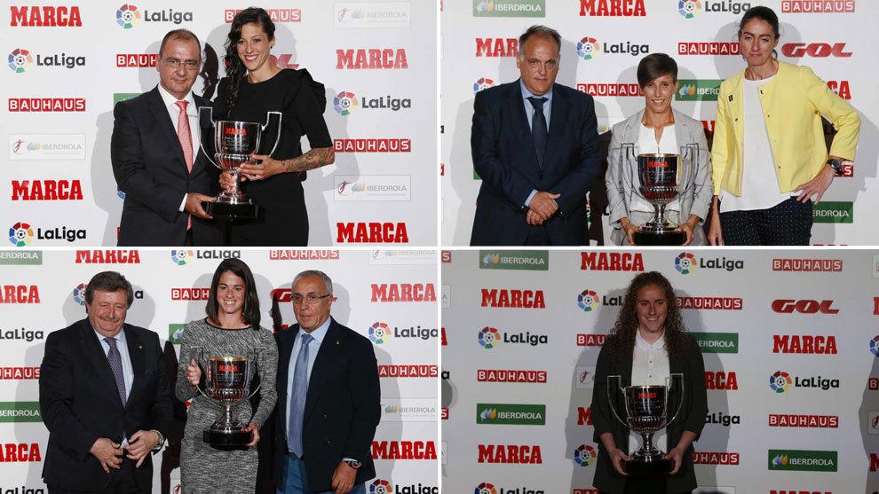 MARCA entregó los premios a los mejores de la Liga Iberdrola 2016/17.