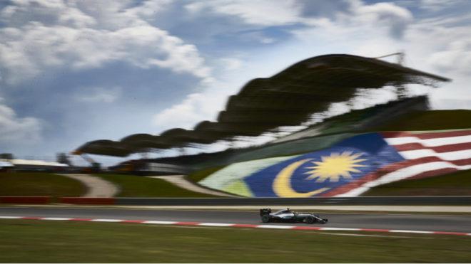 Lewis Hamilton, en Malasia.