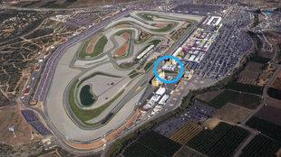 Imagen a�rea del Circuit con la zona indicada donde se ubicar� la...