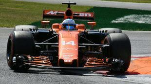 Alonso pilota su McLaren en el pasado GP de Italia.